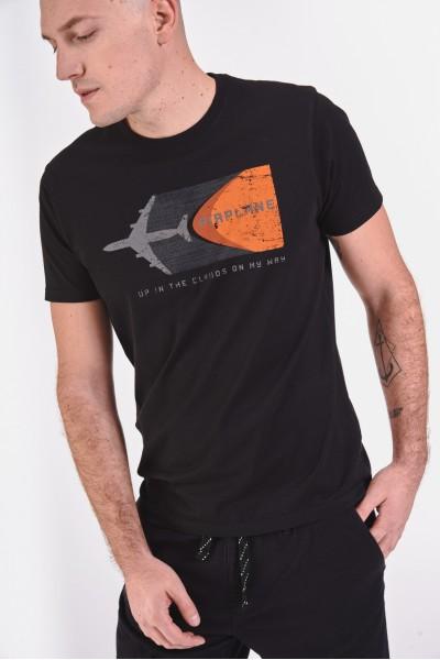 Bawełniana koszulka z samolotowym nadrukiem