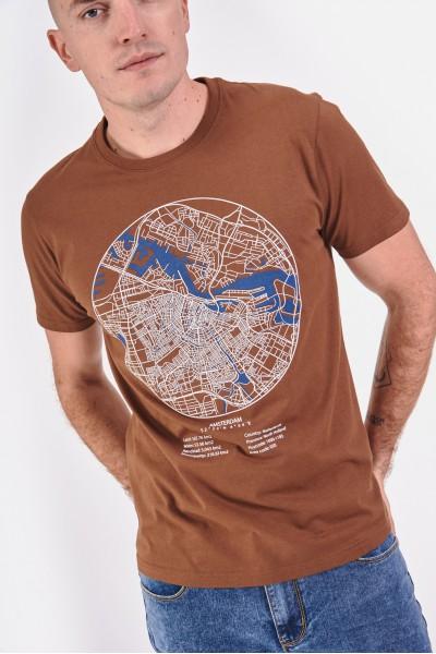 Bawełniana koszulka z mapą...