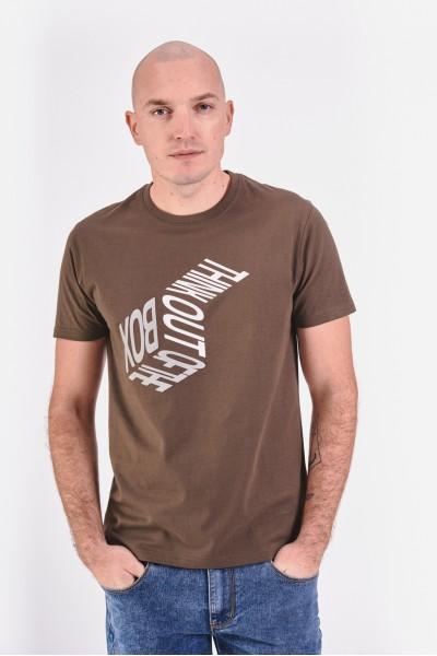 T-shirt z białym nadrukiem