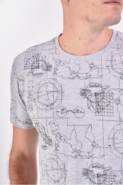 Bawełniana koszulka w mapy świata