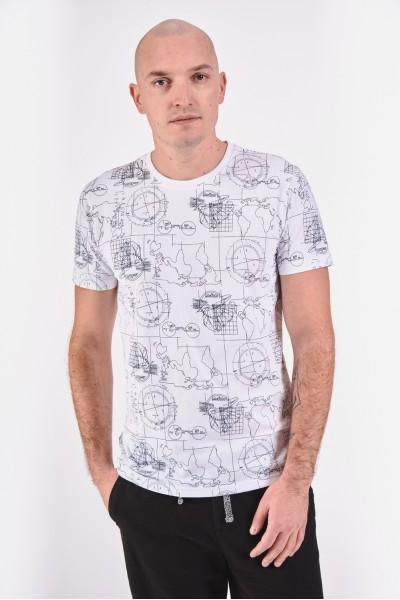 Bawełniana koszulka w mapy...