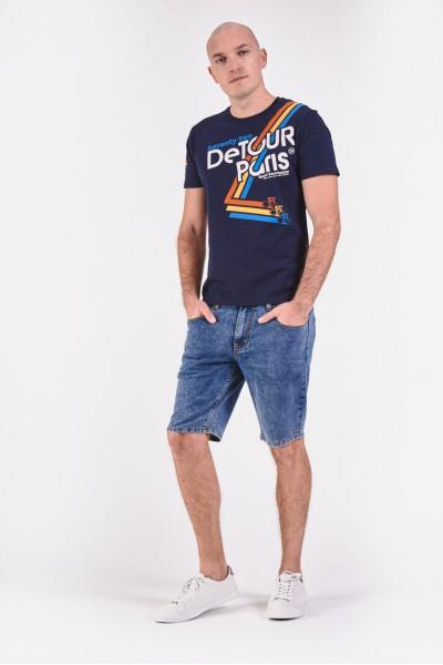 Bawełniana koszulka z kolorowym nadrukiem