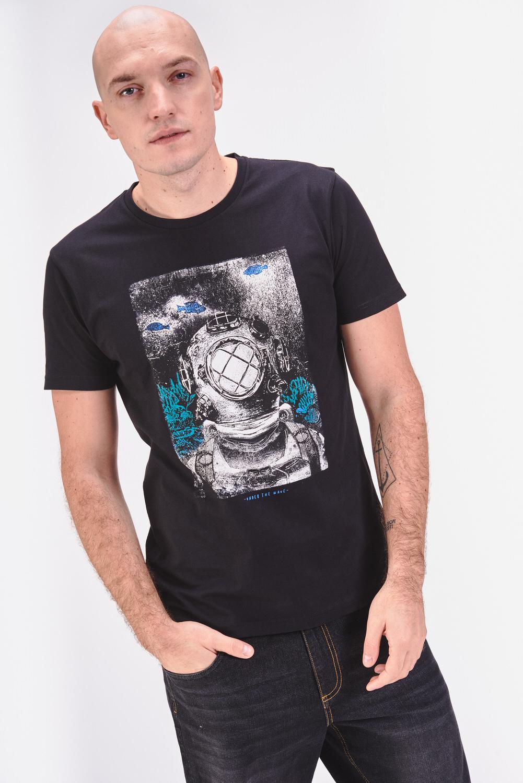 Bawełniana koszulka z motywem nurkowania