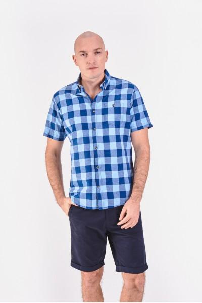 Koszula regular z domieszką lnu