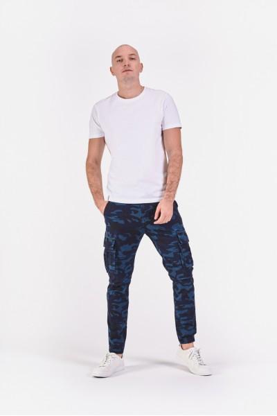 Długie spodnie w niebieskie...