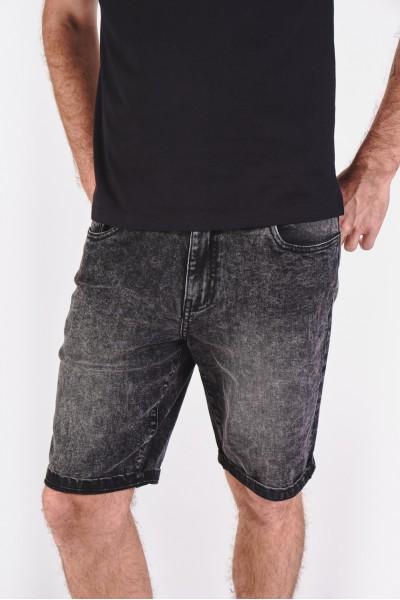 Dżinsowe szorty z granatowego, spranego denimu