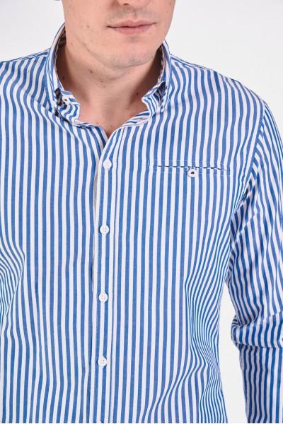 Bawełniana koszula slim w paski
