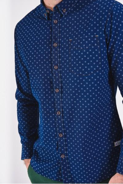Koszula slim z kieszonką na piersi