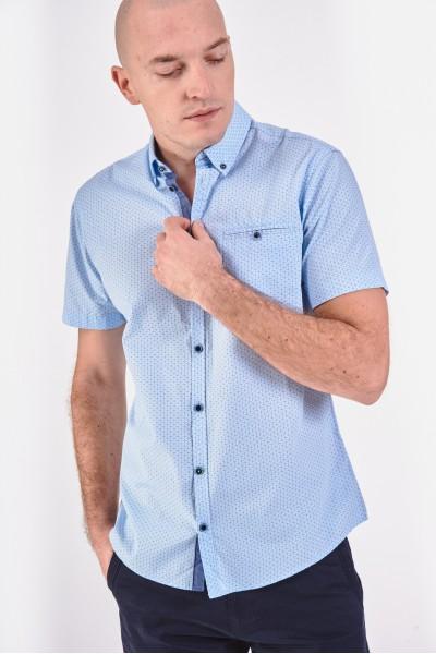 Błękitna koszula regular z...