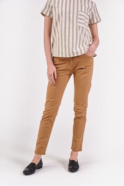 Bawełniane spodnie z normalnym stanem