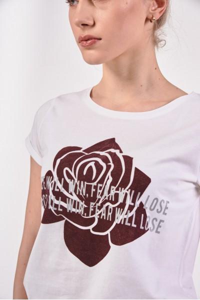 Koszulka z różą