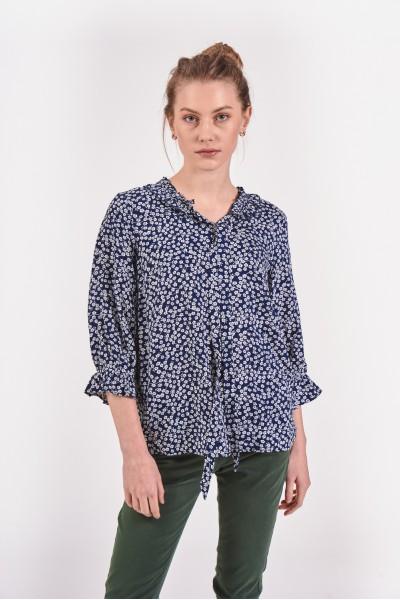 Bawełniana bluzka w drobne plamki