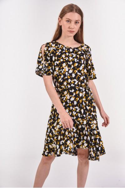 Sukienka z rozciętymi rękawami