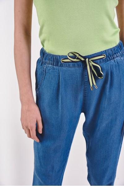 Luźne spodnie ze ściągaczami