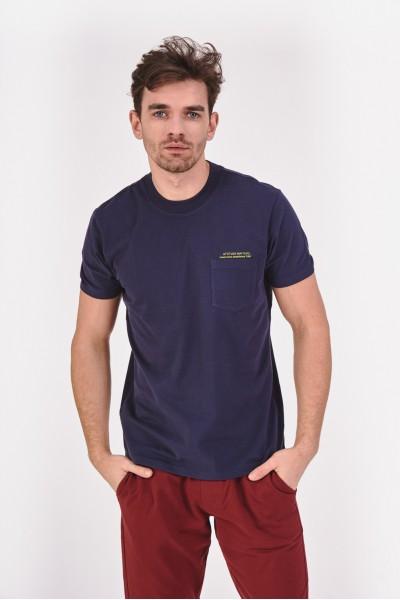 Gładka koszulka z kieszonką