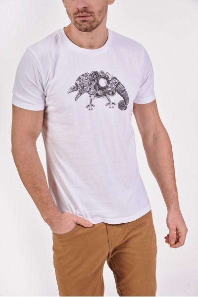 Koszulka z grafiką mechanicznego ptaka