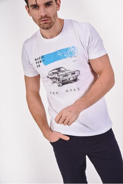 T-shirt z grafiką samochodową