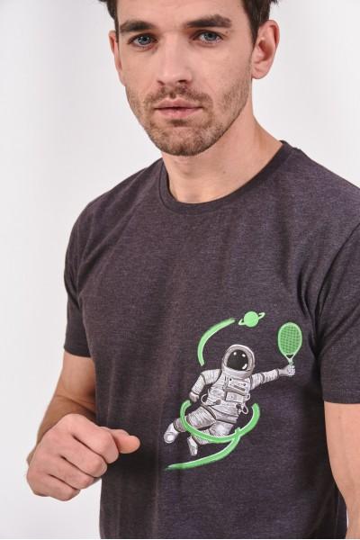 Bawełniana koszulka z grafiką kosmonauty