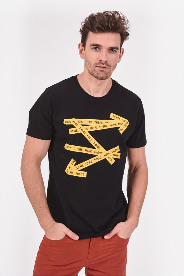 Bawełniana koszulka z napisami