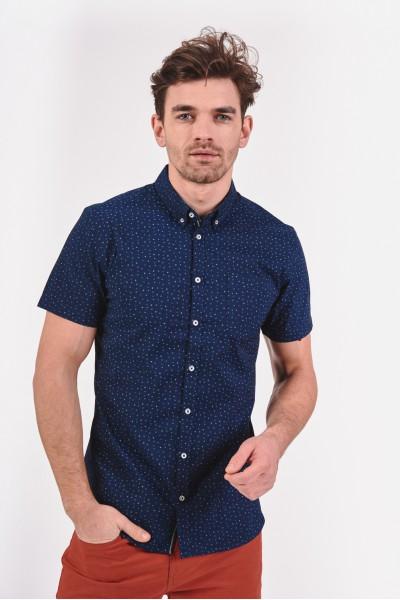 Koszula slim w drobny wzór