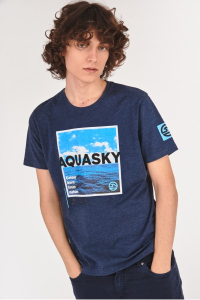 Bawełniana koszulka z motywem wody