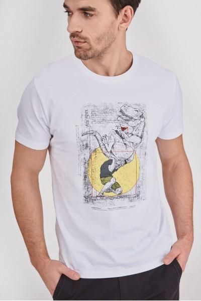 Bawełniana koszulka z dinozaurem