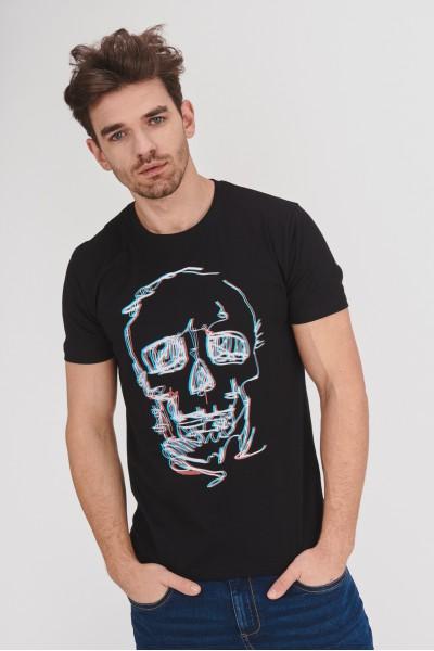 Bawełniana koszulka z czaszką