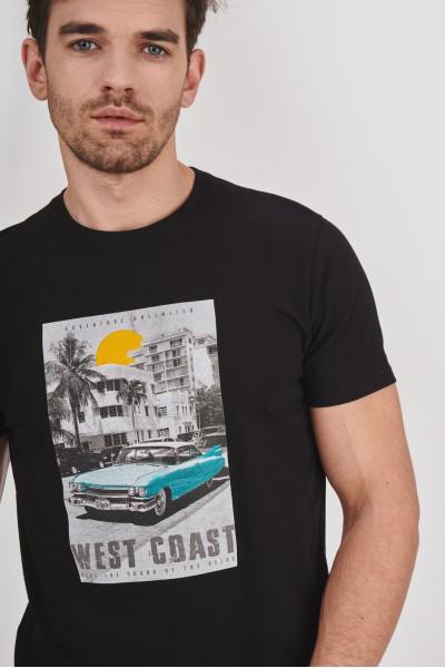 Bawełniana koszulka z nadrukiem