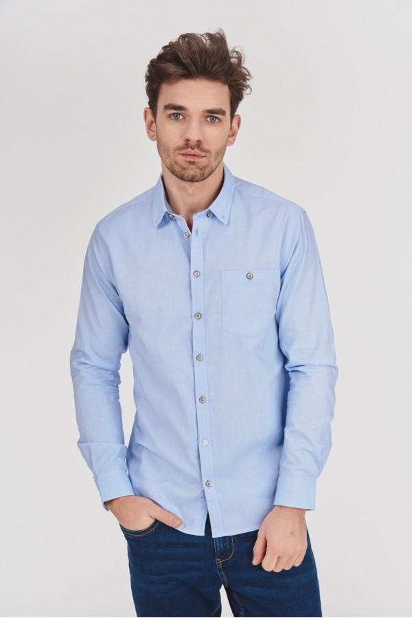 Koszula regular w drobny wzorek