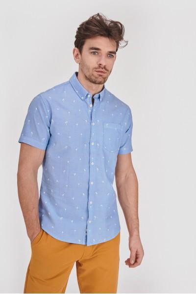 Koszula slim w palemki