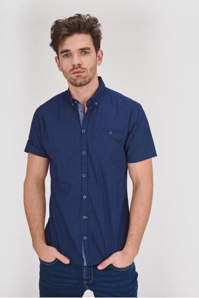 Granatowa koszula regular z...
