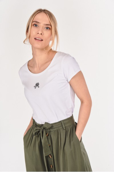 Koszulka z minimalistyczną różą