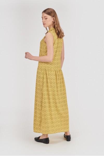 Wiskozowa sukienka z kołnierzykiem