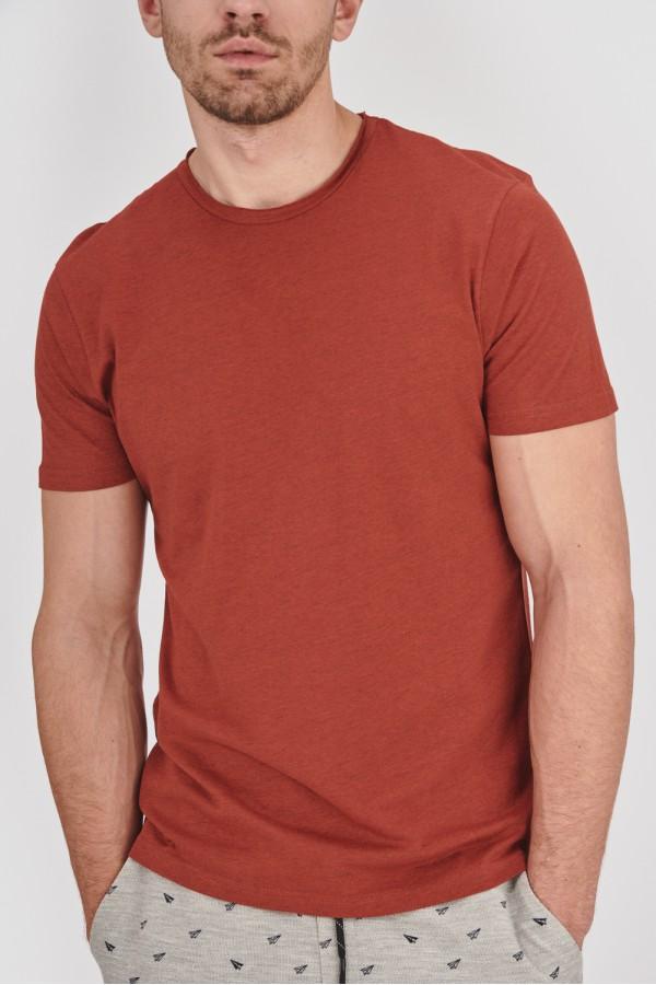 Gładka koszulka o swobodnym kroju