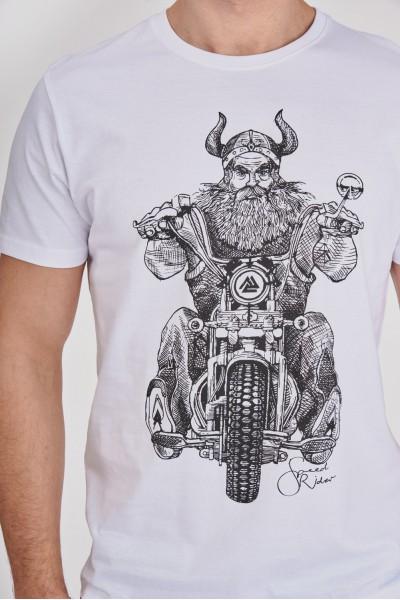 T-shirt z Wikingiem