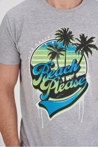 Bawełniana koszulka z plażowym motywem