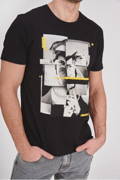 Bawełniana koszulka z portretem