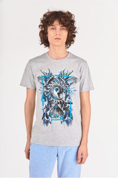 Koszulka z abstrakcyjną grafiką
