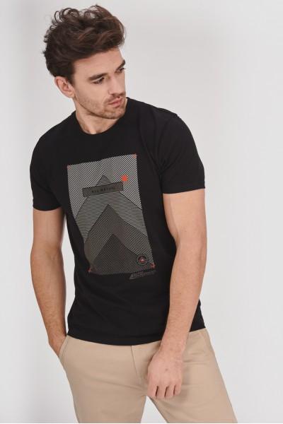 Koszulka z grafiką w paski