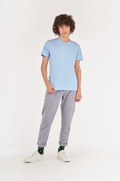 Lniane długie spodnie