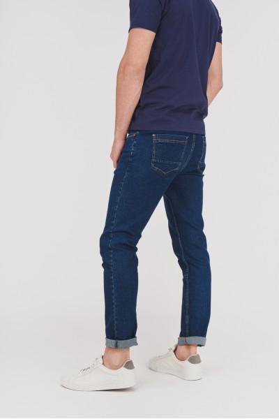 Dżinsowe spodnie z ciemnego denimu
