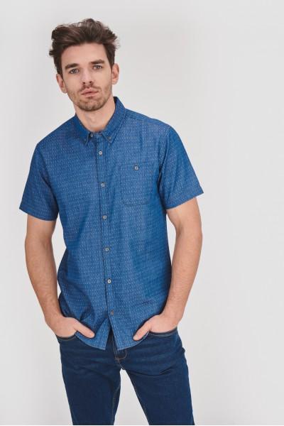 Koszula regular w drobny wzór