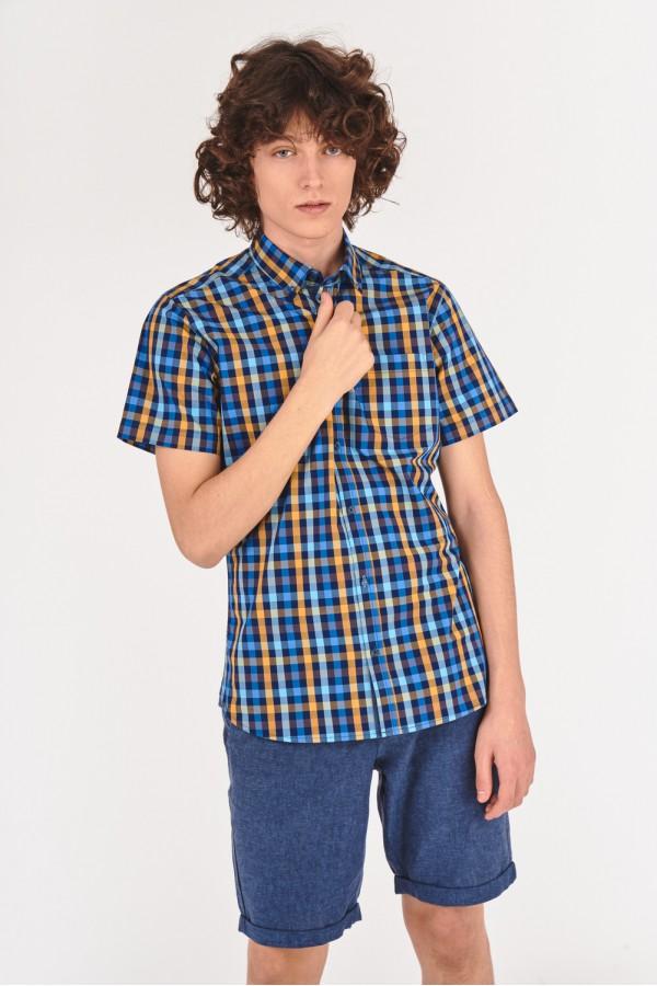 Koszula slim w kratę