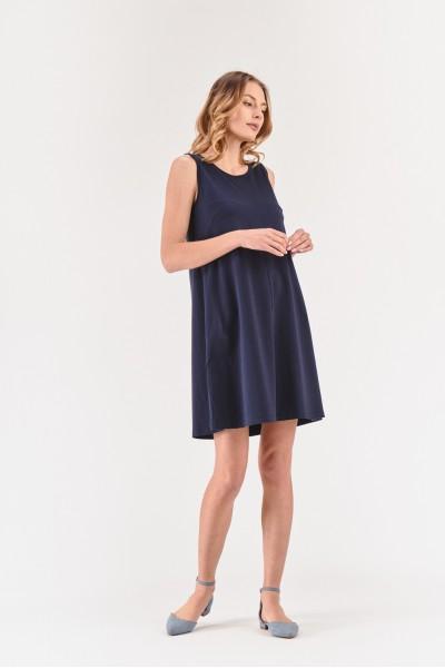 Sukienka mini na szerokich ramiączkach