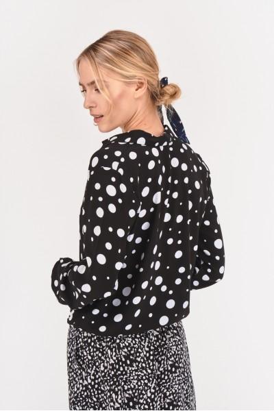 Wiskozowa bluzka w groszki