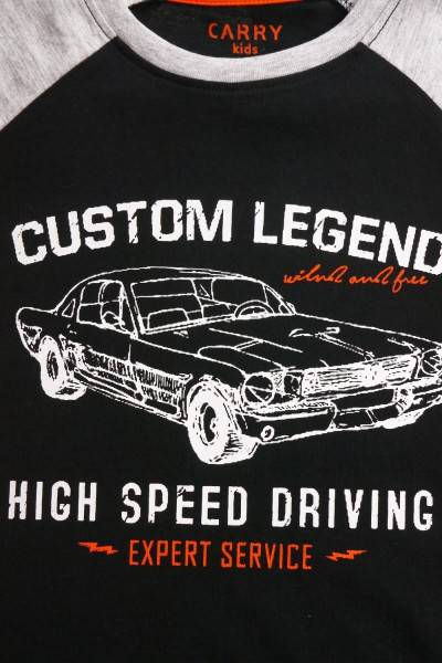Koszulka z samochodowym nadrukiem