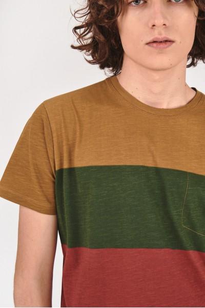 Bawełniana koszulka w szerokie paski