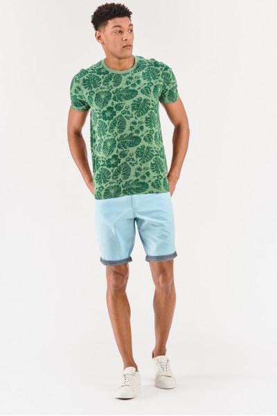 Koszulka w tropikalne liście