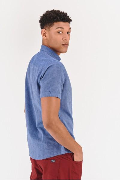 Lniana koszula slim