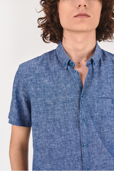 Koszula regular z dodatkiem lnu